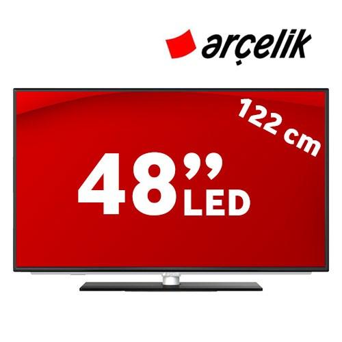 """Arçelik A48 LB 8467 48"""" 400Hz WIFI Uydu Alıcılı SMART 3D LED TV + 2 Adet Gözlük"""