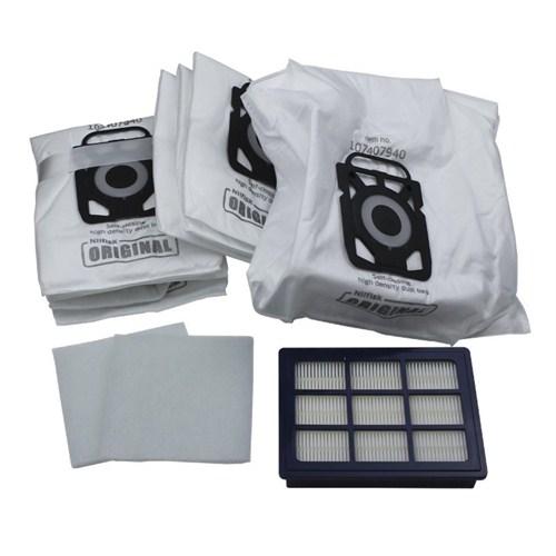 Nilfisk Elite Başlangıç Kiti (2 mikro filtre +1 HEPA 14 filtre + 8 toz torbası )