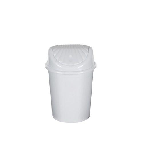 Modelüks 13 Lt İstiridye Çöp Kovası - Beyaz