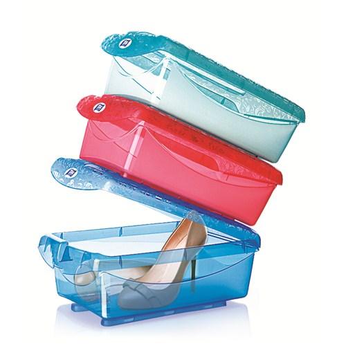 Titiz Tidy Up Büyük Boy Mavi 3 Lü Ayakkabı Ve Eşya Saklama Kutusu