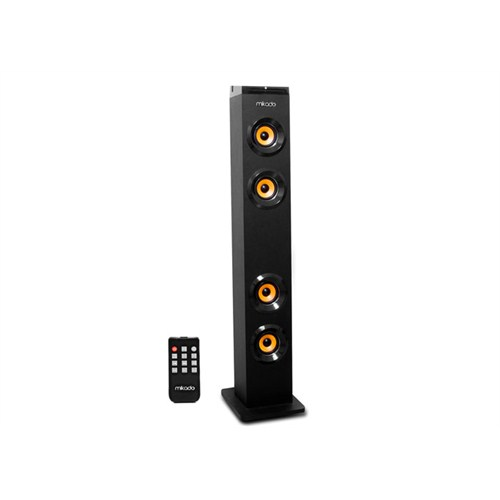 Mikado MD-2014 Siyah Usb + FM Destekli Bluetooth Kule Multimedia Speaker