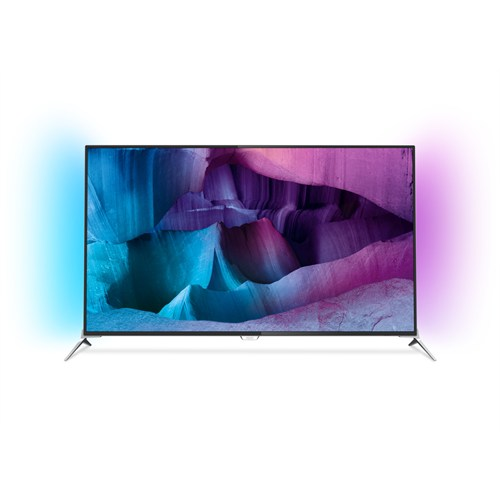 "Philips 49PUK7100 49"" 124 Ekran [4K] Ultra HD 800 Hz Uydu Alıcılı 3D Smart [ANDROİD] LED Ambilight TV"