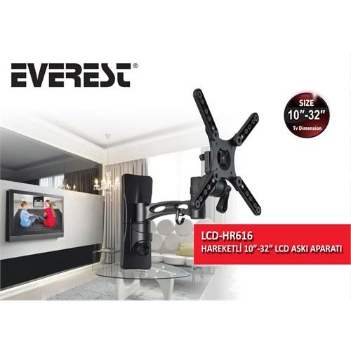 Everest LCD-HR616 10''-32'' Hareketli Lcd & Led Tv Askı Aparatı