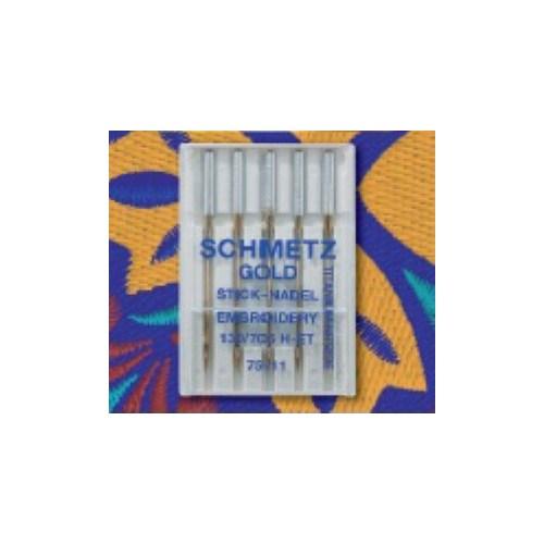 Schmetz Gold Nakış İğnesi (Uzun Ömürlü Nakış İğnesi) 75 Numara 5'li Paket
