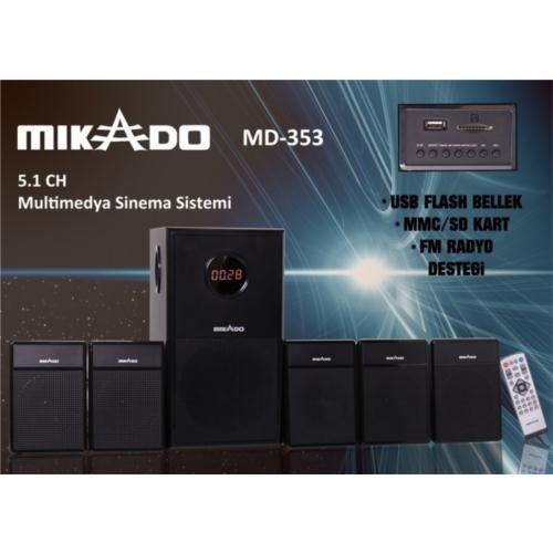 Mikado MD-353 Multimedya Ev Sinema Hoparlör Sistemi