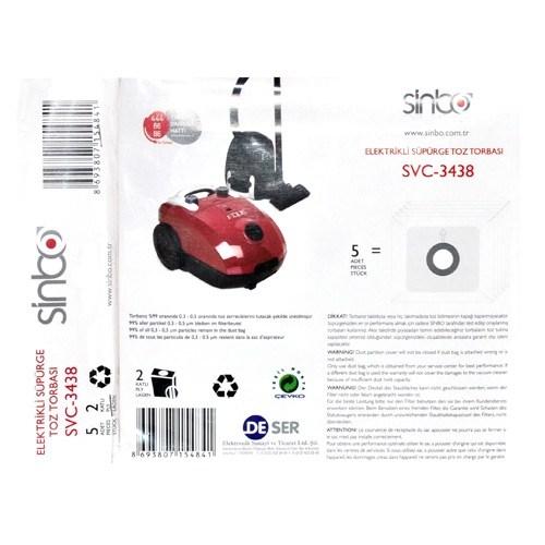 Sinbo Svc-3438 Elektrikli Süpürgeye Uyumlu Toz Torbası