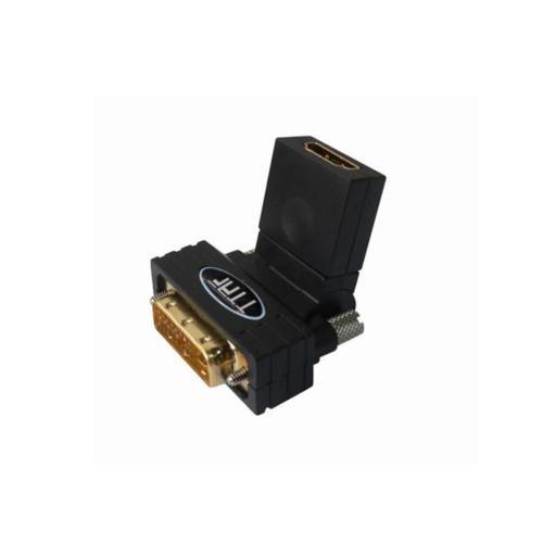 TTAF DVI Erkek - HDMI™ Konnektör Dişi Adapter 90 Derece Ayarlı 24K Altın (96138)