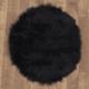 Yuvarlak Post Halı Siyah 145X145 Cm