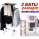 Kayıkcı Çamaşır Kurutmalık 90 Cm 3 Katlı Alüminyum