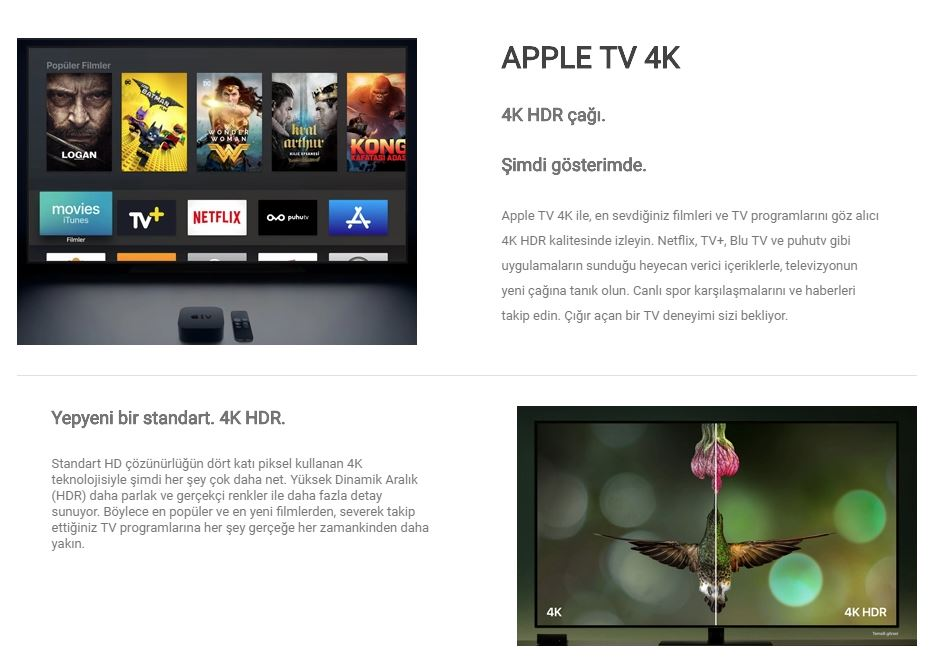 530b3610b7a4b Apple TV 4K 64 GB - MP7P2TZ/A (Apple Türkiye Garantili) Fiyatı