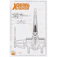 Pyramid International Maxi Poster - Star Wars Episode Vıı X Wing Plans