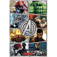 Pyramid International Maxi Poster - The Avengers Comic Panels