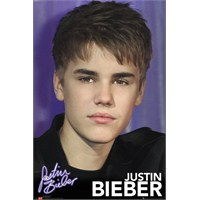 Justin Bieber Pin Up Purple Maxi Poster