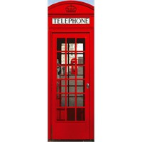 London Telephone Box Midi Poster