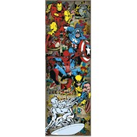 Marvel Characters Door Poster
