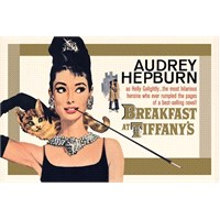 Maxi Poster Audrey Hepburn Breakfast Gold One Sheet