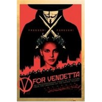 Maxi Poster V For Vendetta Red