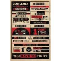 Maxi Poster Fight Club Rules Of Infographic