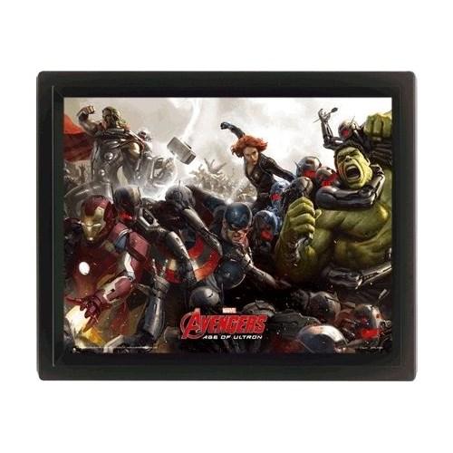 Pyramid International 3 Boyutlu Poster - Avengers: Age Of Ultron Battle