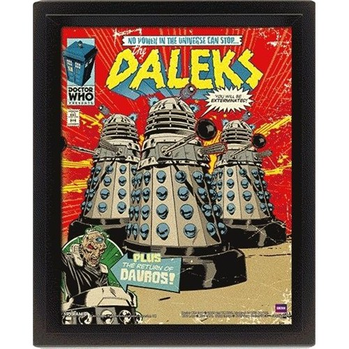 Pyramid International 3 Boyutlu Poster - Doctor Who Daleks Comic Cover