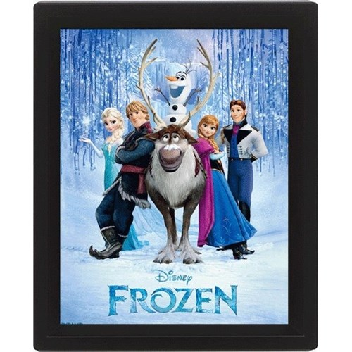 Pyramid International 3 Boyutlu Poster - Frozen Cast
