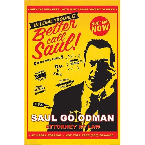 Pyramid International Maxi Poster - Breaking Bad Better Call Saul Attorney At Law
