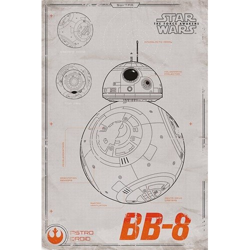 Pyramid International Maxi Poster - Star Wars Episode Vıı Bb-8