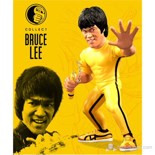 Bruce Lee Fanatiks Yellow Jump Suit Statue