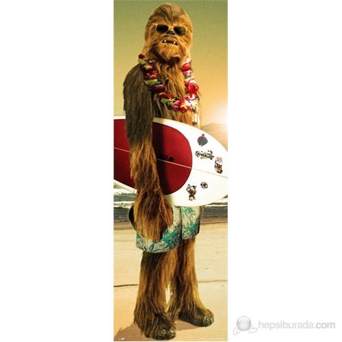 Star Wars Chewie Surf Door Poster