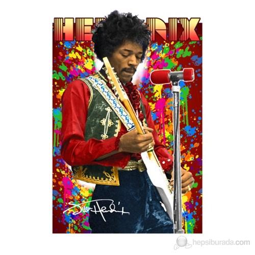 Jimi Hendrix Colours 3D Poster