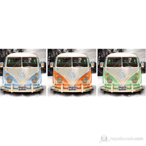 VW Camper Triptych Midi Poster
