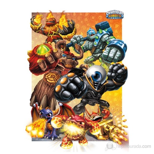 Skylanders Giants Characters 3D Poster