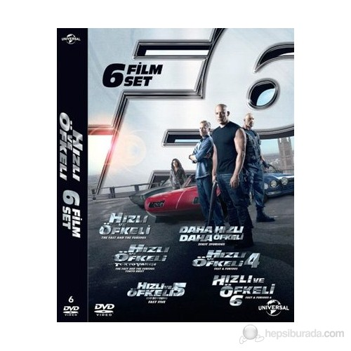 Hızlı ve Öfkeli 6 Film Dvd Set