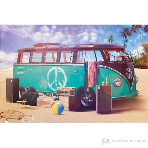 VW Camper Party Maxi Poster