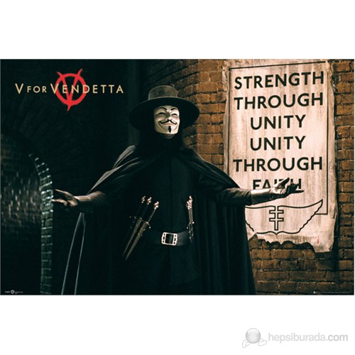 V For Vendetta Unity Maxi Poster