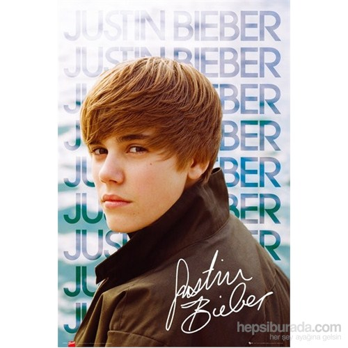 Justin Bieber Water Maxi Poster