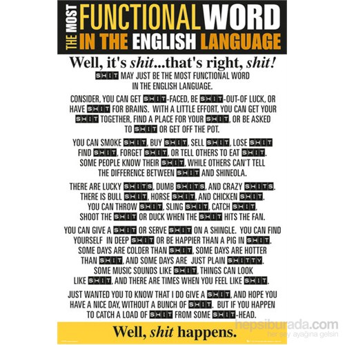 Functional Word Shit Maxi Poster