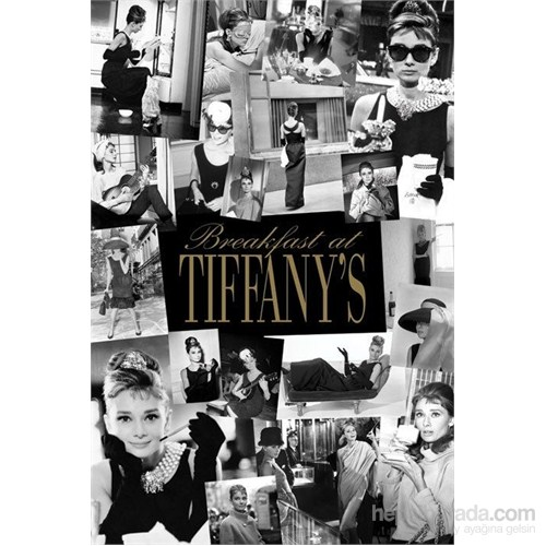 Maxi Poster Audrey Hepburn Breakfast At Tiffanys Collage
