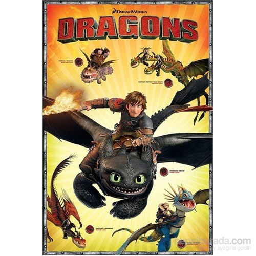 Maxi Poster Dragons Characters