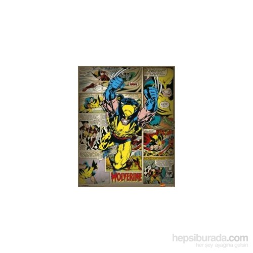 Mini Poster Marvel Comics Wolverine Retro