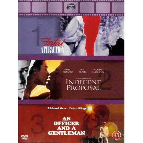Fatal Attraction-Indecent Proposal-an Officer And Gentleman Box Set ( DVD )