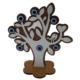 Myros Myros Büyük Nazarlı Dekoratif Ahşap Masaüstü Figürü