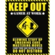 Pyramid International Mini Poster Keep Out Gamer At Work Mpp50557