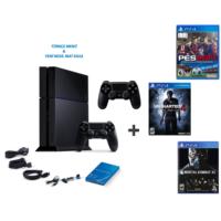 Sony Ps4 500 Gb Oyun Konsolu + Pes 2017 ( Türkçe ) + Uncharted 4 ( Türkçe Dublaj ) + Mortal Combat Xl + 2. Kol