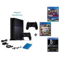 Sony Playstation 4 500 Gb Oyun Konsolu + Pes 2017 ( Türkçe ) + Gta 5 + Mortal Combat Xl + 2. Kol