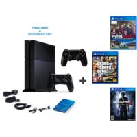 Sony Ps4 500 Gb Oyun Konsolu + Pes 2017 ( Türkçe ) + Gta 5 + Uncharted 4 ( Türkçe Dublaj ) + 2. Kol