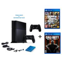 Sony Playstation 4 500 Gb Oyun Konsolu + Gta 5 + Cod Black Ops 3 + 2. Kol