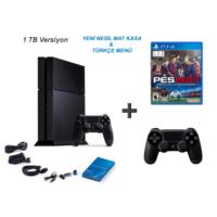 Sony Playstation 4 1 Tb Oyun Konsolu + Pes 2017 ( Türkçe ) + 2. Kol
