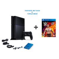 Sony Playstation 4 500 Gb Oyun Konsolu + Wwe 2K17