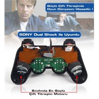 TX QuickShot PC/PS3 Uyumlu Çift Analog, Dualshock,12 Tuşlu Analog/Dijital USB Gamepad